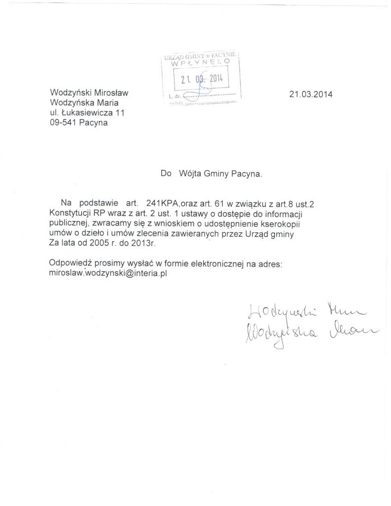 wniosek o ksero umów 001