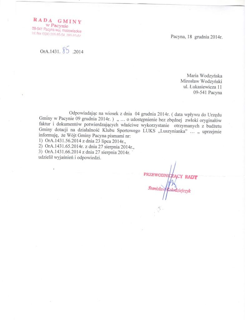 Luszynianka odp. 04.12.2014