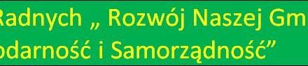"""Zawiaząnie Klubu Radnych """" Rozwój Naszej Gminy, Gospodarność i Samorządność """""""