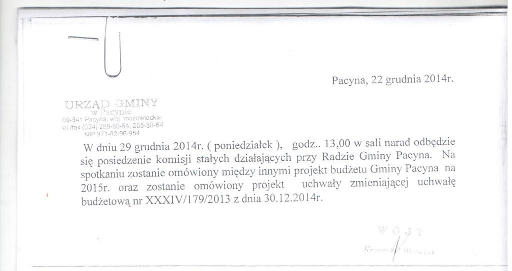 komisja 29.12.2014