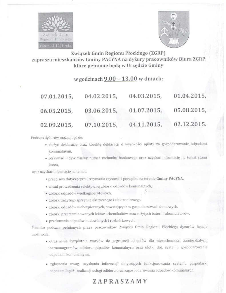 Związek Gmin Regionu Płockiego 001