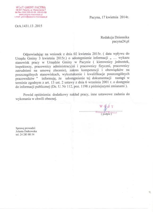 odp. na wniosek o wykszt. i kompet. gminy