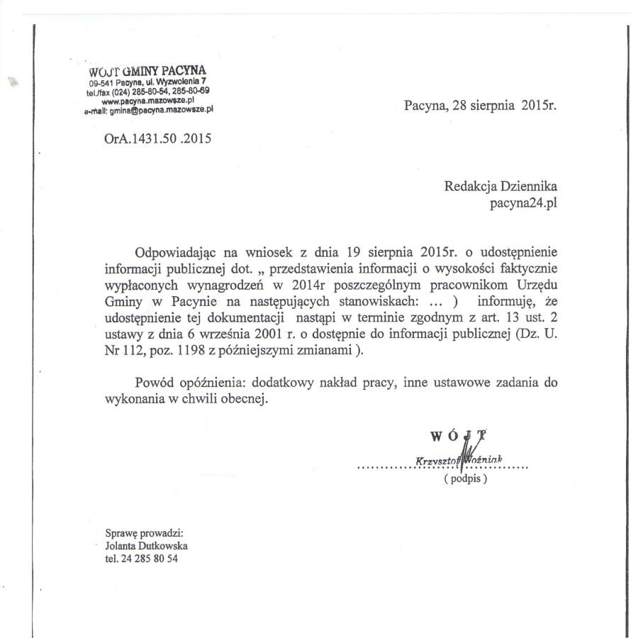 odp. na wniosek redakcji o wynagr.U.G 1