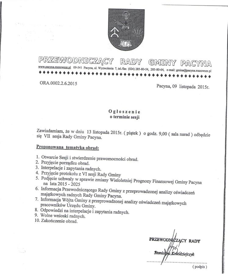 sesja 13.11.2015