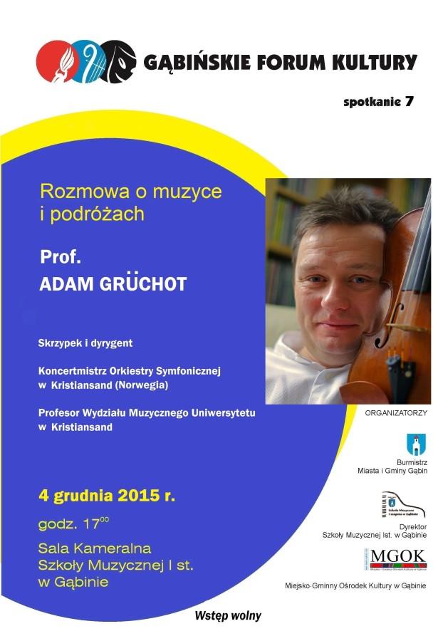 Zaproszenie na Gąbińskie Forum Kultury 4 .12.2015r.