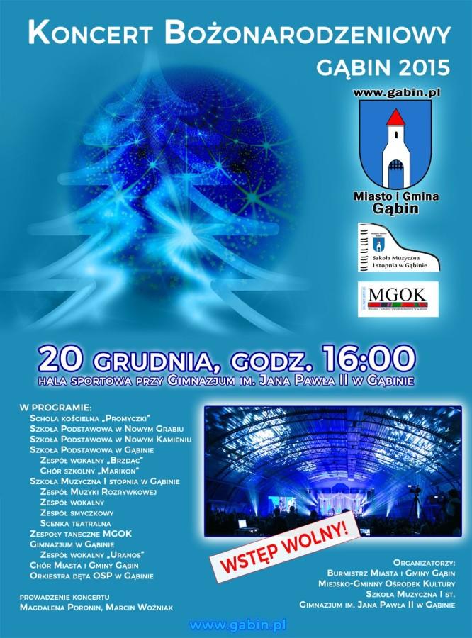 Zaproszenie na Koncert Bożonarodzeniowy 20.12.2015r.
