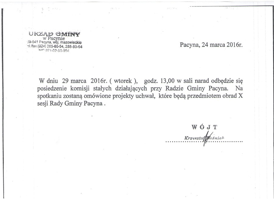 komisja 29.03.2016