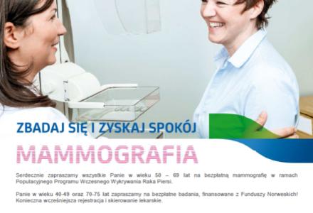 MAMMOGRAFIA – 2 LIPCA W PACYNIE
