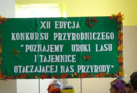 """XII Edycja Konkursu Przyrodniczego """" Poznajemy uroki lasu i tajemnice otaczającej nas przyrody """" 8 listopad 2016"""